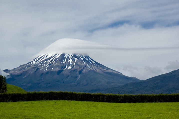 Unusual clouds over Mt Taranaki