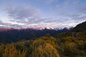 Inland Kaikoura Range at sunrise